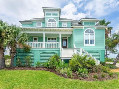 Photo for OCEANFRONT luxury 5 BR home in gated Harbor Island Community