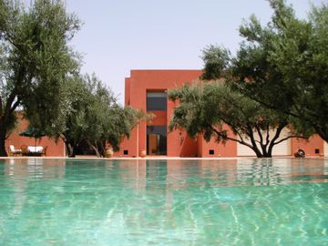 Fully staffed luxury villa with beautiful pool surrounded by olive groves