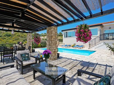 Photo for Theletra Villa, Sleeps 8 with Pool, Air Con and WiFi