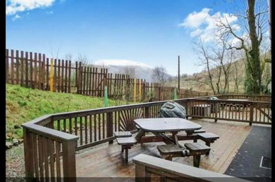 Views of Ben Lomond from the rear wooden decking.