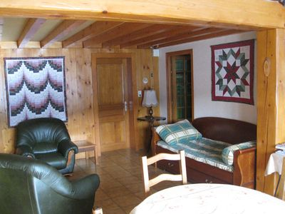 Photo for Apartment in Chalet - very quiet - for 6 persons - Small village of Bois d'Amon