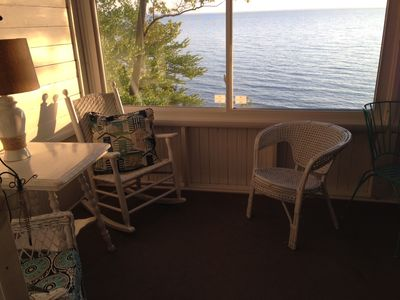 Enjoy a sunset or morning coffee on the screened in porch.