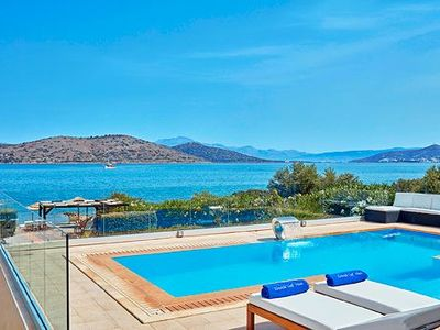 Photo for Luxury Spacious Villa Private Heated Pool & Breathtaking Views of Gulf of Mirab Breakfast Included