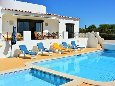 Photo for Colina - 3 bedroom villa with private pool and gardens, sea views, walk to beach and all you need