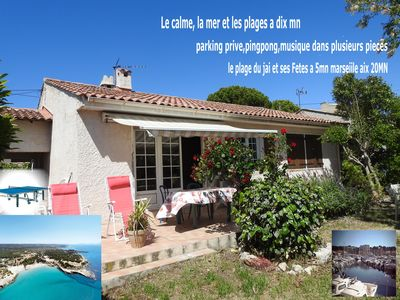 Photo for Villa top quiet area 10 mins from the sea!