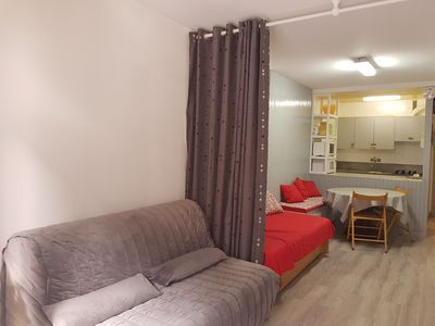 Photo for studio for 3 persons, (36m2), view to the street and at 150 mts from ski slopes 1 bathroo