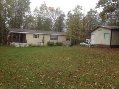 Photo for Two bedroom, two bath, home and bunkhouse with access to Big Sandy Lake
