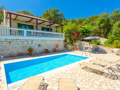 Photo for Villa Anastasia: Large Private Pool, Walk to Beach, Sea Views, A/C, WiFi, Car Not Required