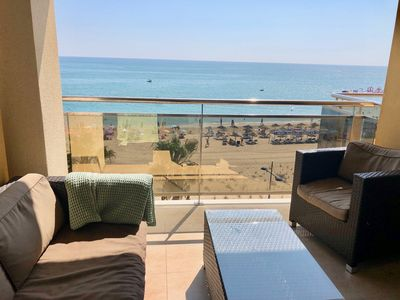 Photo for New: Very nice apartment Facing the sea Avenue Papaluna