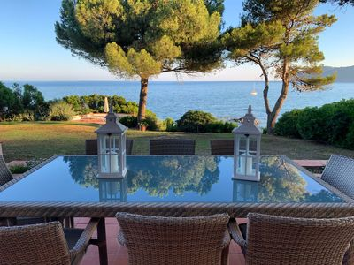 Photo for EXCLUSIVE SEAFRONT VILLA WITH PRIVATE BEACH ACCESS