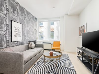 Photo for Sonder | Wall Street | Vintage 1BR + Sofa Bed