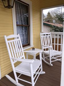 Sip coffee on the front porch - we provide all the fixins