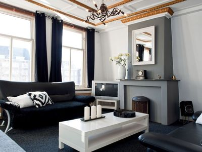 Photo for Contemporary one bedroom apartment, for up to six people, in the Vondelpark area in Amsterdam, close
