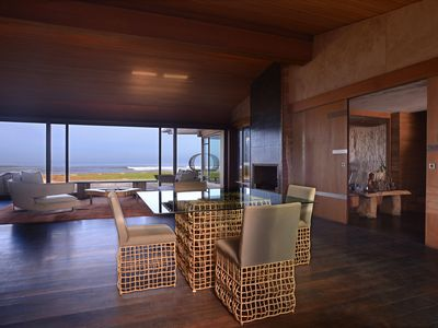 Photo for Wooden Holiday House with Pool and Sea View