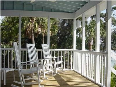 Rock the day away on the spacious porch