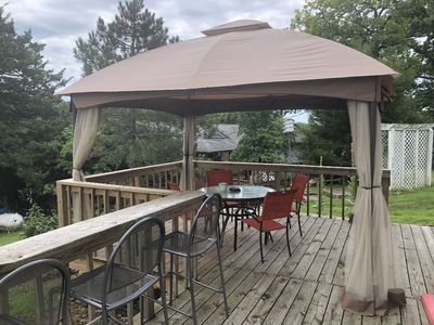 Sun or shade on your deck with a great view