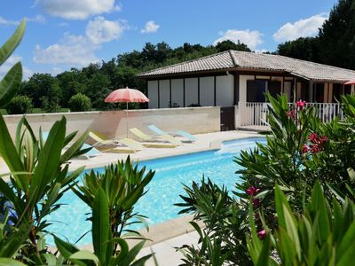 Photo for gite with garden private swimming pool and tennis court