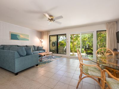 Photo for Idyllic Puamana 40-2, Garden View. Tropical Oasis 100 yrd to Ocean inc AC
