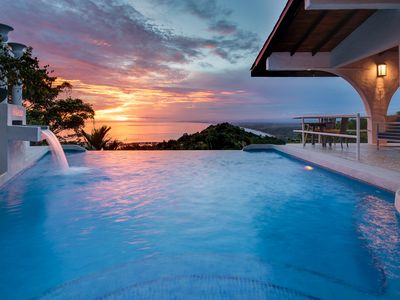 Photo for Voted Most Romantic Villa with Private Infinity Pool Ocean View