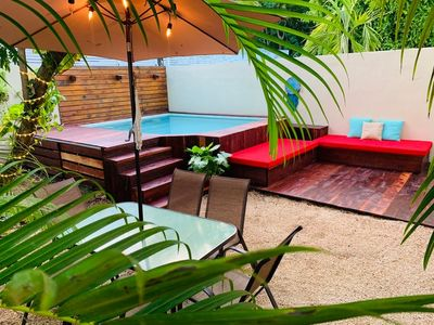 Photo for House at Tulum, pool, garden, 6 people, grill