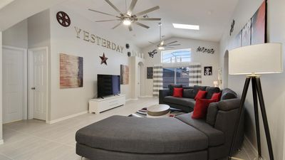Photo for Welcome to Villa Imagine, 3 miles from Disney World, southfacing pool,  wifi