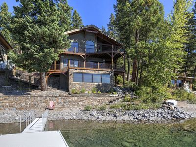 Photo for Spectacular Whitefish Lakefront home!! Private dock, paddle boards, kayak and incredible views