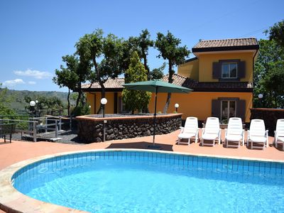 Photo for Charming Holiday Home in Piedimonte Etneo with Pool