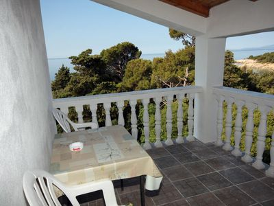 Photo for Studio flat with terrace and sea view Suha Punta (Rab)