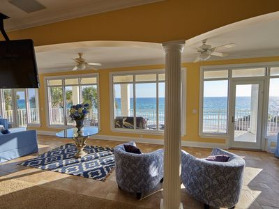 Photo for SEAGROVE Luxury Gulf Front - 7 BR, Heated Pool & Hot Tub. 1 mile From Seaside.