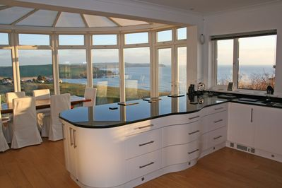 View of Bigbury Bay from Kitchen / Dining area