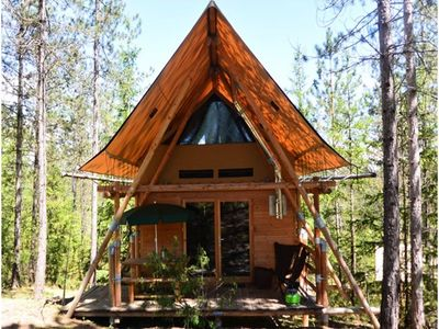 Photo for Camping Huttopia Lanmary *** - Cahutte 5 People