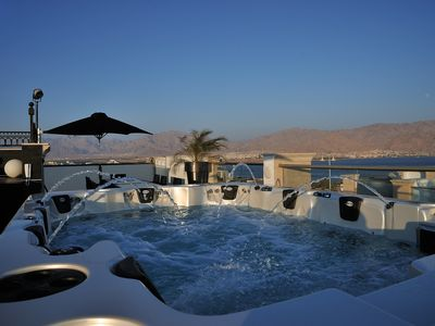 Photo for VILLA DIAMOND ***** Lotus B 1st floor balcony + roof terrace 160 m2. Eilat ISRAEL