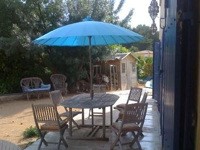 Photo for Villa marseille with garden swimming pool in pagnol hills has 50 m golf 18 holes