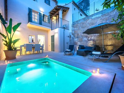 Photo for Casa Rosario is a super stylish Mallorcan townhouse with it's own swimming pool, minutes from square