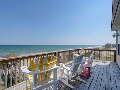 Photo for Oceanfront Home, MULTIPLE decks with private beach access