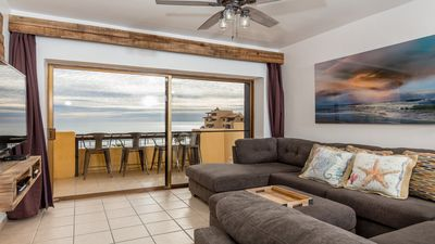 Photo for Oceanfront Two Story Penthouse - 2 Bedroom 2 Bath - Right on the Beach!