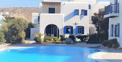 Photo for Mykonos Maisonette-5' walk to Ornos Sandy Beach