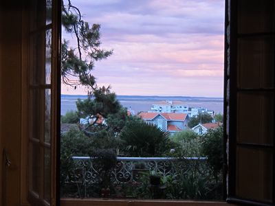 Photo for Spacious apartment 1500sq ft. SEA VIEW Private garden lg deck close to beach