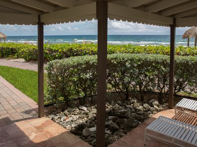 Photo for Oceanfront Villa step out the front door and you're on the beach!  Villa D