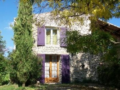 Photo for charming stone house with a large enclosed terrace. Independent