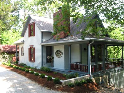 Rose Cottage is secluded yet just a few steps from downtown shopping and dining.