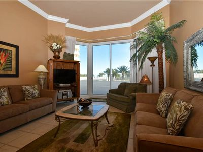 Photo for Free Beach Service! Beachfront Condo. Patio Access to Lagoon Pool & Resort Beach