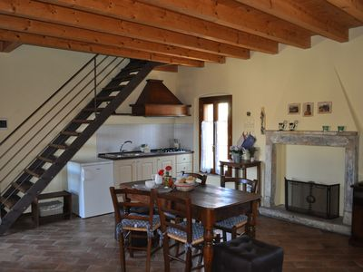 Photo for Apartment in a medieval village in the hills of Lake Garda