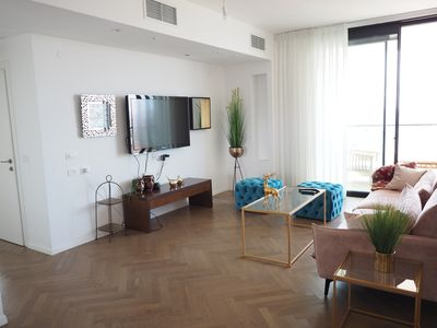 Photo for Luxury NYC Style 3.5BR 2BA Sea View High Floor+ Terrace~Gym & Pool /Parking