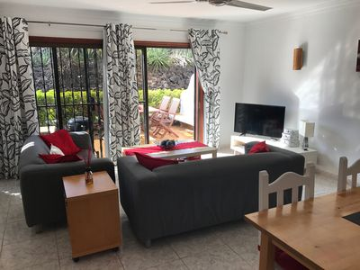 Photo for Modern apartment with Shared Pool, WIFI and views to Tiede and the Sea