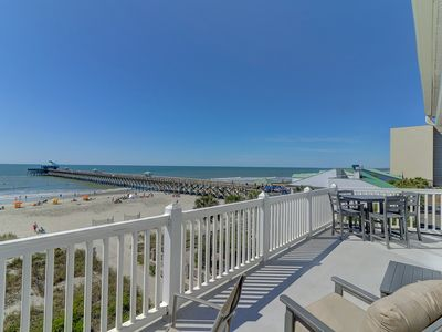 Monthly Rental Options! Top Floor Oceanfront Condo - View of Folly Beach Pier!