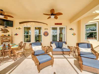 Photo for Canal Home with Gulf Access and Kayaks! Heated Pool and Spa - Villa Lazy Days - Cape Coral