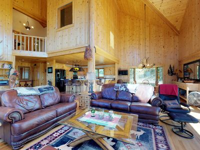 Photo for NEW LISTING! Beautiful cabin w/mountain view, hot tub & luxury kitchen