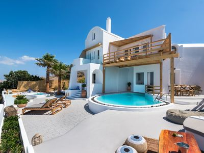 Photo for Summer Lovers Villa | Private Outdoor Pool | Hot Tub and Panoramic Caldera View