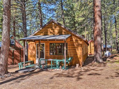 Photo for NEW-Rustic Chama Cabin w/Screened Porch, Fireplace